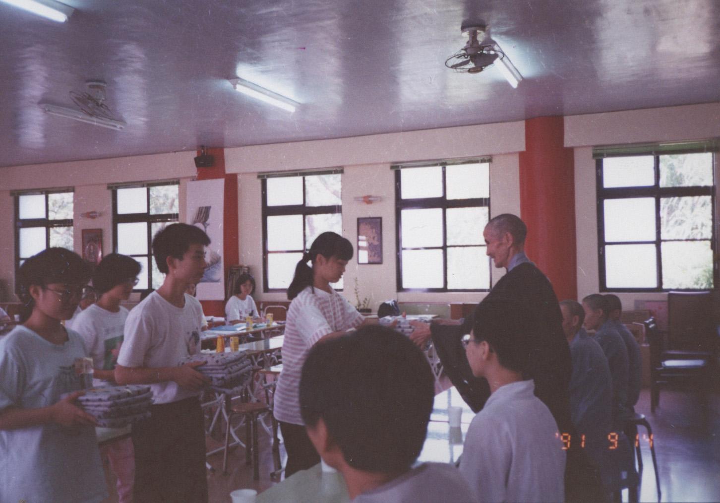 1991.9.14代理老和尚主持大專念佛會暑修會皈敬會
